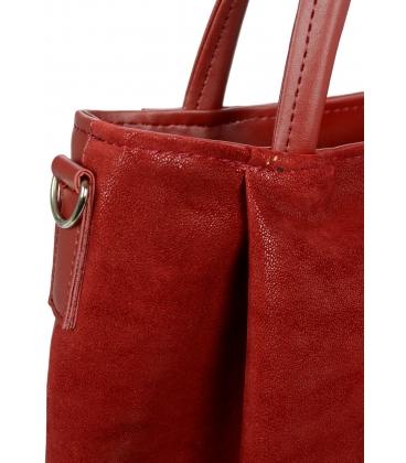 Bordovo-červená elegantná kabelka V18SM042BRD - GROSSO