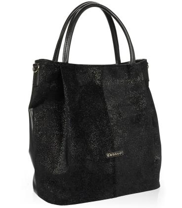 Čierna elegantná kabelka V18SM042BLC - GROSSO