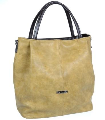 Písková elegantní kabelka V18SM042BEI - GROSSO