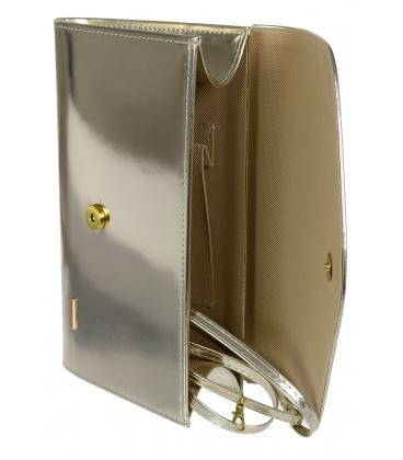 Strieborná listová kabelka S18SM007SLV - GROSSO