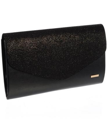 Fekete glitter kézitáska S18SM007BLC - GROSSO