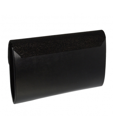 Čierna trblietavá listová kabelka S18SM007BLC - GROSSO