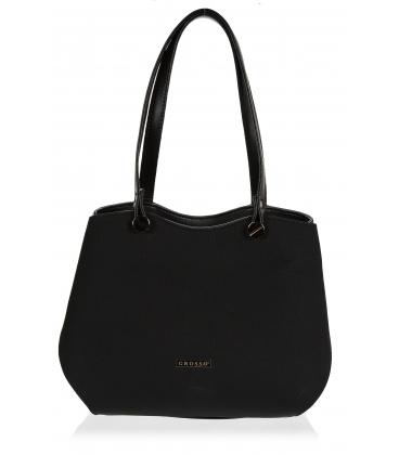 Čierna elegantná kabelka s hadím vzorom V18SM079BLC - GROSSO