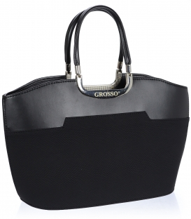 Čierna elegantná kabelka V18SM084BLC - GROSSO