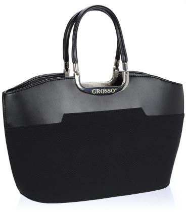 Černá elegantní kabelka V18SM084BLC - GROSSO