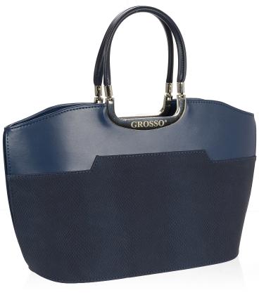 Tmavomodrá elegantní kabelka V18SM084BLU - GROSSO