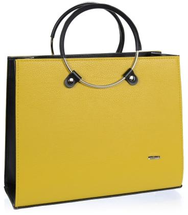 Hořčicová elegantní kabelka V18SM083YEL - GROSSO