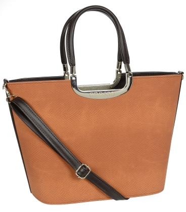 Hnědá elegantní kabelka V18SM002BRW - GROSSO