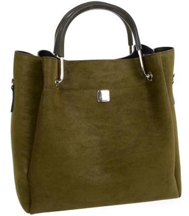 Olivová elegantná kabelka V18SM085GREE- GROSSO