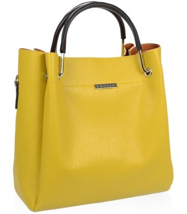 Žltá elegantná kabelka V18SM085YEL- GROSSO