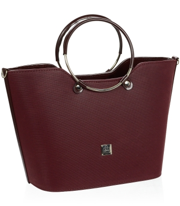 Vínová elegantní vyztužená kabelka V18SM094BOR- GROSSO