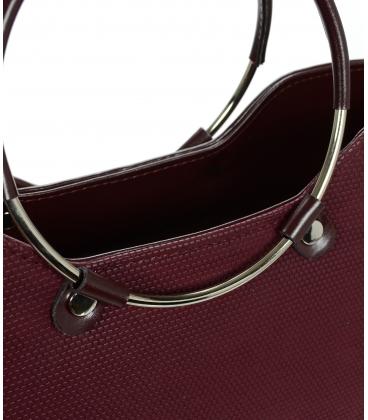 Bordová elegantná vystužená kabelka V18SM094BOR- GROSSO