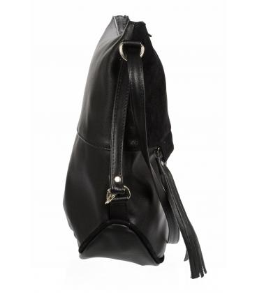 Černá crossbody taška se střapcem M290 - Grosso