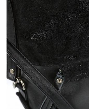 Fekete táska arany kiegészítőkkel M290 - Grosso
