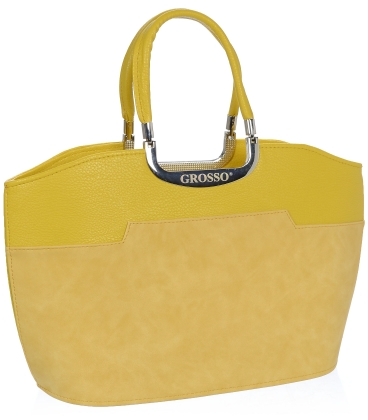 Žlutá elegantní kabelka V18SM084YEL - GROSSO