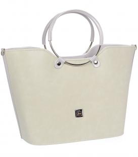 Bledožltá elegantná vystužená kabelka V18SM094YEL- GROSSO