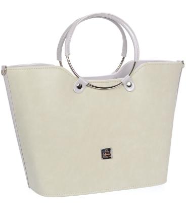 Světležlutá elegantní vyztužená kabelka V18SM094YEL- GROSSO