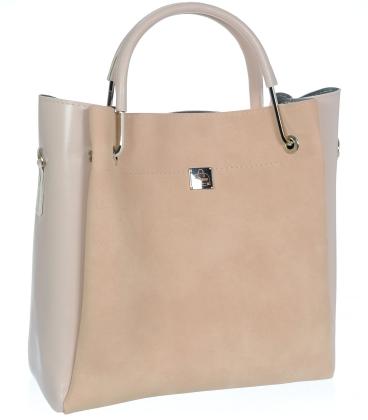 Světle růžová elegantní kabelka V18SM085PNK- GROSSO