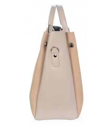 Bledoružová elegantná kabelka V18SM085PNK- GROSSO