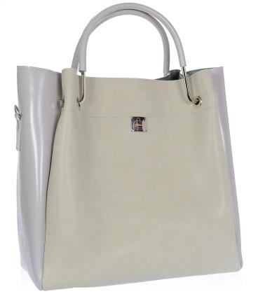 Šedá elegantní kabelka V18SM085GRY- GROSSO