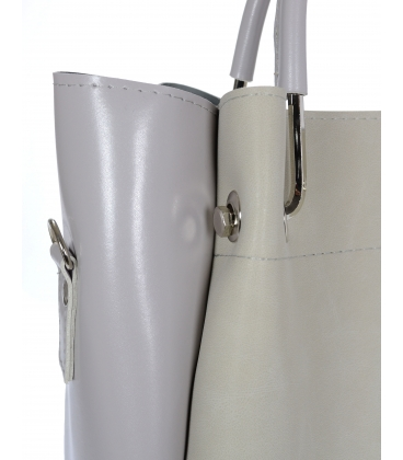 Sivá elegantná kabelka V18SM085GRY- GROSSO