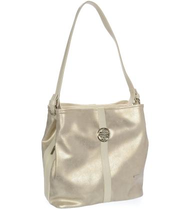 Jemná zlatá kabelka se stříbrnou aplikací V18SZ065GLD - GROSSO
