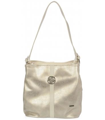 Jemná zlatá kabelka so striebornou aplikáciou V18SZ065GLD - GROSSO