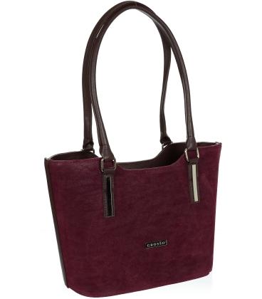Vínová vyztužená kabelka V18SM073BRD - GROSSO