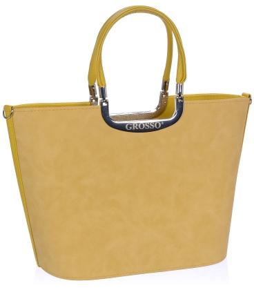 Žlutá elegantní vyztužená kabelka V18SM002YEL - GROSSO