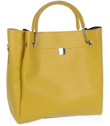 Žlutá matná elegantní kabelka V18SM085YEL- GROSSO