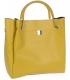 Žltá matná elegantná kabelka V18SM085YEL- GROSSO