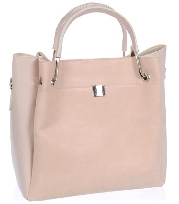 Baby pink elegantná kabelka V18SM085PNK- GROSSO