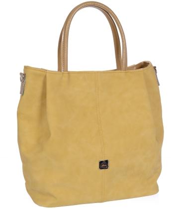 Žlutá prostorná kabelka V18SM042YEL - GROSSO