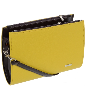 Fekete - sárga oldaltáska C18SM008YEL- Grosso