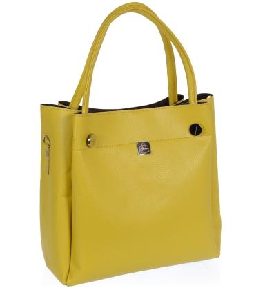 Žlutá elegantní kabelka V18SM093YEL- GROSSO