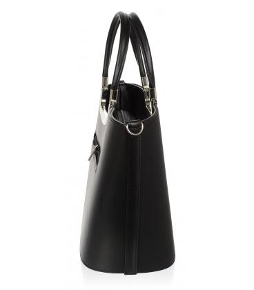 Čierna elegantná vystužená kabelka V18SM002BLC - GROSSO