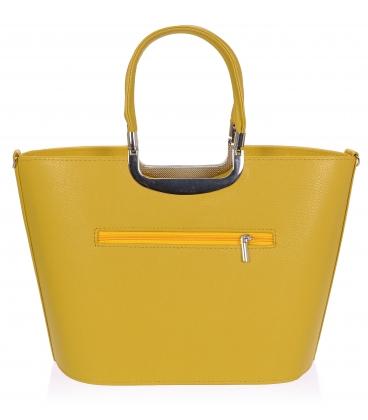 Žltá elegantná vystužená kabelka V18SM002YEL - GROSSO