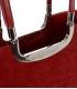 Bordová elegantná vystužená kabelka V18SM002BOR - GROSSO
