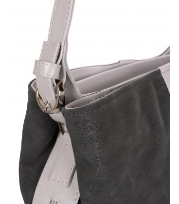 Sivá kabelka so striebornou aplikáciou V18SZ065GRY - GROSSO