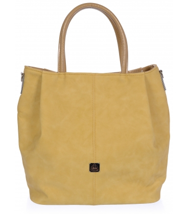 Žltá priestranná kabelka V18SM042YEL - GROSSO
