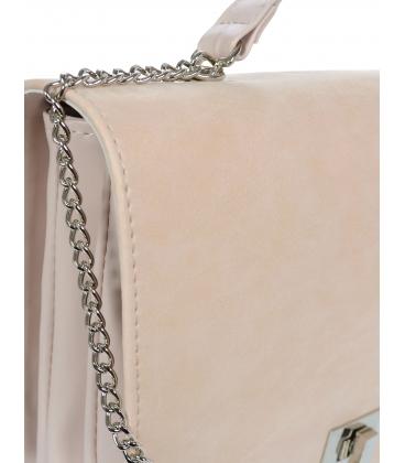 Bledoružová crossbody kabelka na striebornej retiazke C18SM063PNK - GROSSO