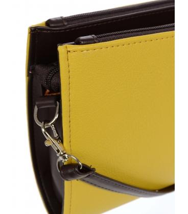 Žlto- čierna crossbody kabelka C18SM008YEL - GROSSO