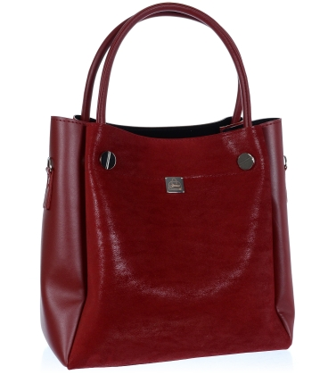 Vínová elegantní kabelka V18SM093BOR - GROSSO