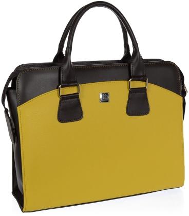 """Mustáros- barna elegáns laptop táska """"15,4"""" ST01 - Grosso"""
