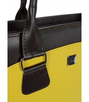 """Horčicovo- hnedá elegantná taška na """"15,4"""" notebook ST01 - Grosso"""