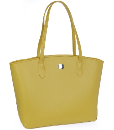 Žltá veľká priestranná kabelka V18SM095YEL- GROSSO