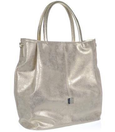 Zlatá perleťová prostorná kabelka V18SM042GLD- GROSSO