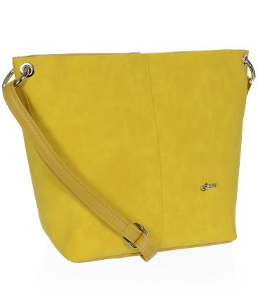 Žltá väčšia crossbody kabelka C18SM067YEL  - Grosso