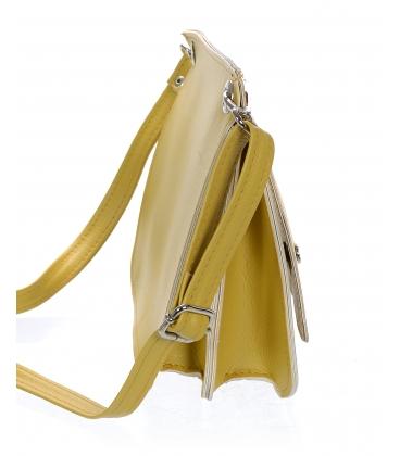 Žltá malá crossbody kabelka so striebornými aplikáciami C18SM070YEL  - Grosso