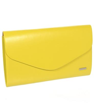 Žlutá matná společenská kabelka SP102 - Grosso